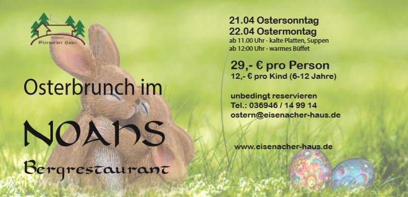 Osterbrunch in der Rhön